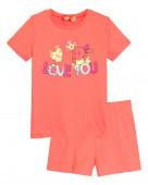 91106 Комплект для девочки (футболка-шорты) р.92-52 коралл