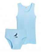 3282 Комплект для мальчика (майка, трусы) р.86-52 голубой