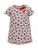 8189 Платье для девочки р.104-56 клубника