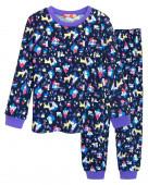 91142 Пижама для девочки р.98-56 т.синий/лиловый