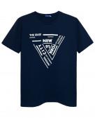 54135 Футболка мужская р.44 т.синий