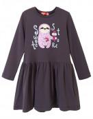 8198 Платье для девочки р.116-60 серый