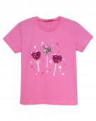 51191 Футболка для девочки р.92-52 розовый