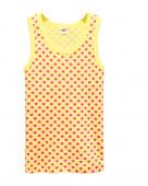 2182 Майка для девочки р.86-52 св. жёлтый