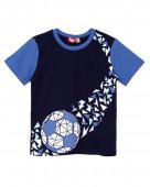 52219 Футболка для мальчика р. 92-52 т.синий/синий