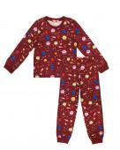 9240 Пижама для мальчика р.98-56 бордовый