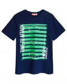 52157 Футболка для мальчика р.134-68 т.синий