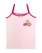 2150 Майка для девочки на бретелях р.92-52 св.розовый/малиновый