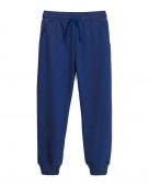 10267 Брюки для мальчика р.134-68 синий с эфф. меланжа