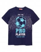 52222 Футболка для мальчика р.134-68 тем.синий