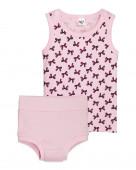 31135 Комплект для девочки (майка, трусы) р.68-44 св.розовый/малиновый