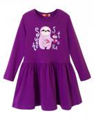 8198 Платье для девочки р.128-64 фиолетовый