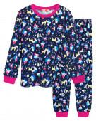 91142 Пижама для девочки р.92-52 т.синий/малиновый